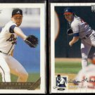 MIKE STANTON 1993 Topps GOLD #88 + 1994 UD CC Silver Sig. Ins. #441.  BRAVES