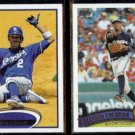 ALCIDES ESCOBAR 2012 Topps #51 + 2011 Topps #251.  ROYALS / BREWERS