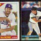 SCOTT VAN SLYKE 2015 Topps #345 + DAD (ANDY) 1991 Stadium Club #118.  LA / PITT