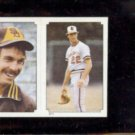 JIM PALMER 1984 Topps mini Sticker #211.  ORIOLES
