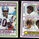 RICK UPCHURCH 1980 Topps #5 + #151.  BRONCOS