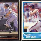 CORY SNYDER 1992 Leaf Black GOLD Insert + 1988 Score Young Stars.  GIANTS / INDIANS