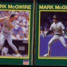 MARK McGWIRE (2) 1990 Starline Coca Cola #'s 9 + 27 of 40.  A's