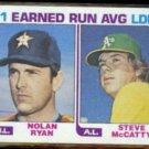 NOLAN RYAN 1982 Topps Leaders #167.  HOUSTON ASTROS