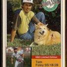 TOM FOLEY 1993 Milkbone Stars Insert #13 of 20.  EXPOS