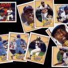 HANK AARON (9) 1991 Upper Deck Card Heroes Set w/ Headder.  BRAVES