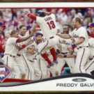 FREDDY GALVIS 2014 Topps #637.  PHILLIES