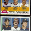 DANNY HEEP 1981 Topps + 1982 Topps Future Stars.  ASTROS