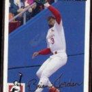 BRIAN JORDAN 1994 UD CC Silver Signature Insert #154.  CARDS