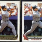 ANDRES GALARRAGA 1993 Topps GOLD Insert w/ sister #173.  CARDS