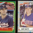 GARY GAETTI 1987 + 1988 Fleer Star Stickers.  TWINS