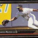 HAROLD BAINES 1992 Leaf Black GOLD Insert #126.  OAKLAND A's