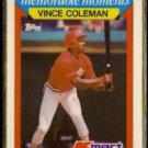 VINCE COLEMAN 1988 Topps Kmart odd #8.  GIANTS - Glossy
