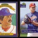 TONY ARMAS 1985 Donruss DK + JR. 2003 UD 1st Pitch #194.  RED SOX / EXPOS