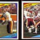 JOHN RIGGINS 1984 Topps #5 + #389.  REDSKINS