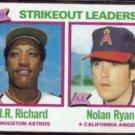 NOLAN RYAN 1980 Topps Leaders #206 w/ JR Richard.  ANGELS
