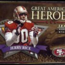 JERRY RICE 1998 Leaf R&S Great American Heroes #'d Insert 0339/2500.  49ers
