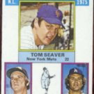 TOM SEAVER 1976 Topps Victory Leaders #199.  METS