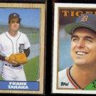 FRANK TANANA 1987 Topps #726 + 1988 Topps #177.  TIGERS
