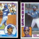BOB WATSON 1983 Topps #572 + 1984 Topps #739.  BRAVES