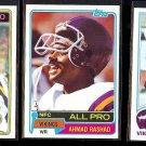 AHMAD RASHAD (3) Card Lot (1980 - 1982)  VIKINGS