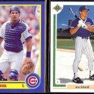 JOE GIRARDI 1990 Score #535 + 1991 Upper Deck #113.  CUBS