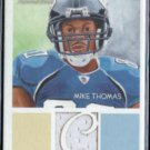 MIKE THOMAS 2009 Topps National Chicle Player Worn Jersey Relic #NCR-MT.  JAGUARS