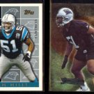 SAM MILLS 1995 Topps #443 + 1995 Metal #24.  PANTHERS