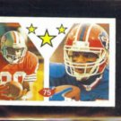 JERRY RICE 1992 Diamond (Italy) mini Sticker (SuperStars) w/ A REED.  49ers