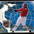 KEN GRIFFEY Jr. 2001 UD MVP Drawing Power Insert #DP5.  REDS