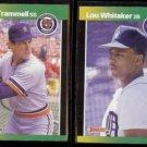 ALAN TRAMMELL #13 + LOU WHITAKER #35 - 1989 Donruss Best Odds.  TIGERS