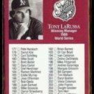 TONY LaRUSSA 1991 Studio #263.  A's