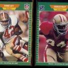 RONNIE LOTT #379 + CHARLES HALEY #378 1989 Pro Set.  49ers