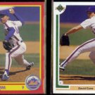 DAVID CONE 1990 Score #430 + 1991 Upper Deck #366.  METS