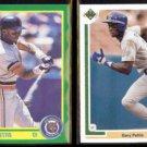 GARY PETTIS 1990 Score #136 + 1991 Upper Deck #229.  TIGERS / RANGERS