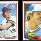 ROBIN YOUNT 1978 Topps #173 + 1981 Topps #515.  BREWERS