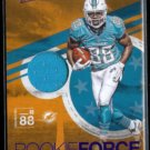 LEONTE CARROO 2016 Panini Absolute Player Worn Jersey RC Insert #28.  DOLPHINS