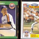 MIKE SCOTT 1989 Donruss Best #94 + 1988 Topps AS Glossy #21 of 22.  ASTROS