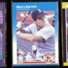 MARTY BARRETT (3) Card Lot (1986, 1987 + 1989).  RED SOX
