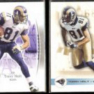 TORRY HOLT 2003 UD SP Authentic + 2003 Fleer Focus.  RAMS