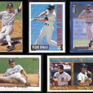 WADE BOGGS (5) Card Lot (1994 + 1995).  YANKEES