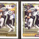 LESLIE O'NEAL 1992 Topps GOLD Insert w/ sister #728.  CHARGERS