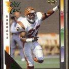 ERIC THOMAS 1992 Wild Card (10 Stripe) Insert #429.  BENGALS