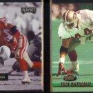 TOM RATHMAN 1992 Playoff #85 + 1993 Stadium Club #370.  49ers