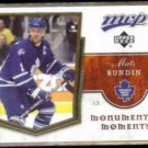 MATS SUNDIN 2007 UD MVP Monumental Moments Insert #MM2.  MAPLE LEAFS