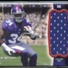 DAVID WILSON 2012 Topps Player Worn Jersey RC Insert #RJR-DW.  GIANTS