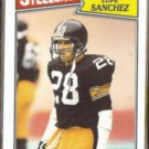 LUPE SANCHEZ 1987 Topps #292.  STEELERS