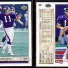PHIL SIMMS (2) 1992 Upper Deck #561.  GIANTS