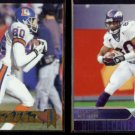 ROD SMITH 1997 Pacific (Phil. Gold) #56 + 2004 Upper Deck #62.  BRONCOS
