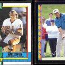 MARK RYPIEN 1990 Topps #133 + 1992 Pinnacle #334.  REDSKINS